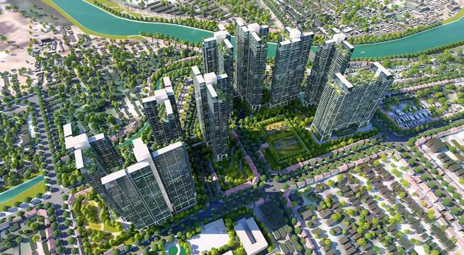 Bán Officetel Sunshine City Sài Gòn thuộc tầng thấp, 2 phòng ngủ, diện tích 69m2.