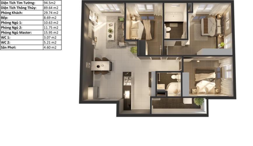 Căn hộ Topaz Elite tầng cao view thoáng mát, nội thất cơ bản.
