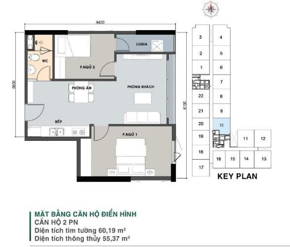 Căn hộ Picity High Park tầng trung, nội thất cơ bản, 2 phòng ngủ.