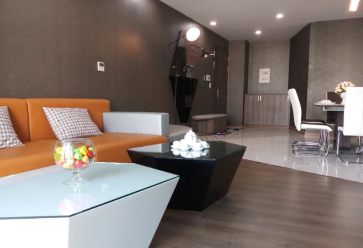 Phòng khách Cosmo City, Quận 7 Căn hộ Cosmo City đầy đủ nội thất, ban công hướng Đông Nam.