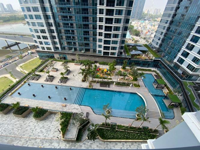 View căn hộ Sunwah Pearl, Bình Thạnh Căn hộ Sunwah Pearl diện tích 106m2, ban công rộng đón gió mát mẻ.