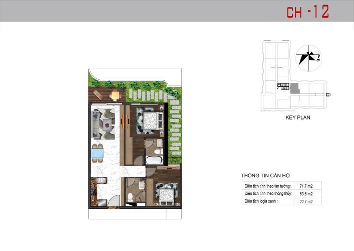 Căn hộ Sunshine Horizon tầng 19 nội thất cơ bản, tiện ích đầy đủ.