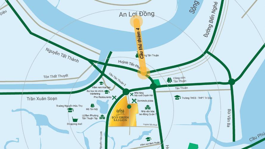 Vị trí Eco Green Saigon Căn hộ Eco Green Saigon 2 phòng ngủ thiết kế hiện đại đầy đủ nội thất