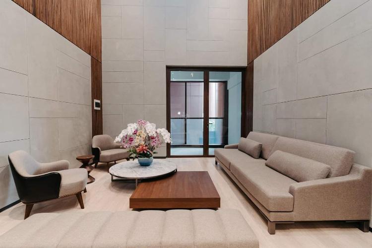 Căn hộ có 2 phòng ngủ The Metropole Thủ Thiêm, nội thất cơ bản.