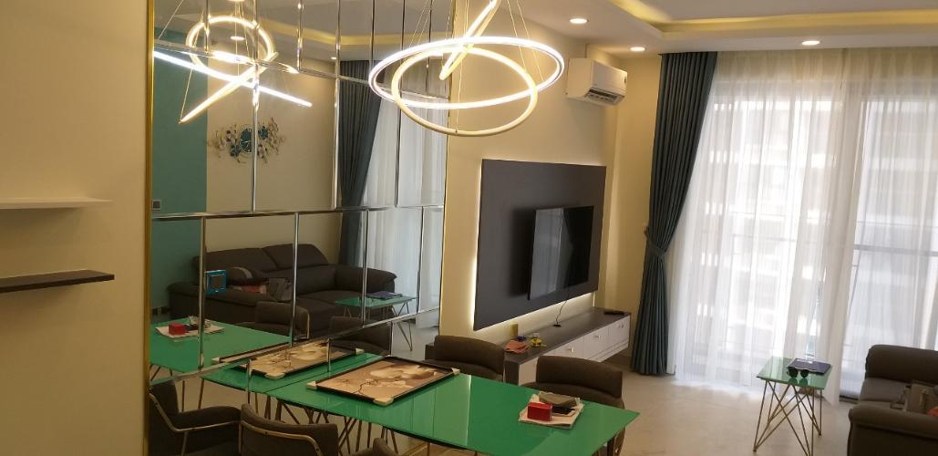 Phòng khách Phú Mỹ Hưng Midtown, Quận 7 Căn hộ Phú Mỹ Hưng Midtown ban công hướng Nam, đầy đủ nội thất