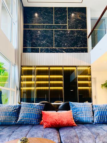 Phòng khách Vista Verde, Quận 2 Căn hộ Vista Verde tầng cao, view thành phố tuyệt đẹp.