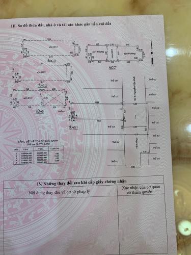 Bản vẻ nhà phố Quận Gò Vấp Nhà hẻm xe hơi Q.Gò Vấp diện tích sử dụng 205.7m2, sổ hồng riêng.
