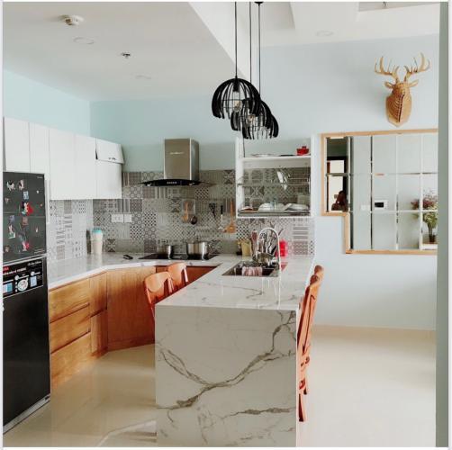 Phòng bếp The Tresor Quận 4 Căn hộ tầng cao The Tresor hướng Đông Bắc, view thoáng mát.