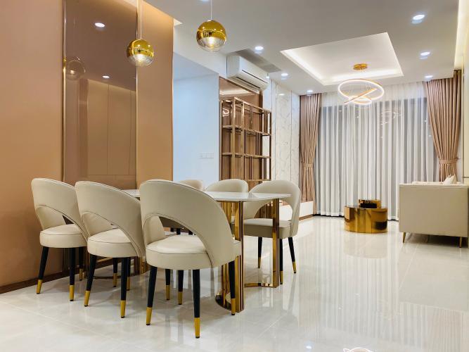 Phòng khách, phòng ăn căn hộ One Verandah, Quận 2 Căn hộ One Verandah đầy đủ nội thất hoàn thiện, view thoáng mát.