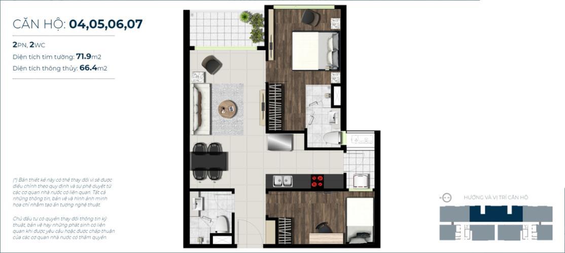 layout căn hộ Sky89 Căn hộ Sky 89 An Gia tầng 29 ban công hướng Đông thoáng gió
