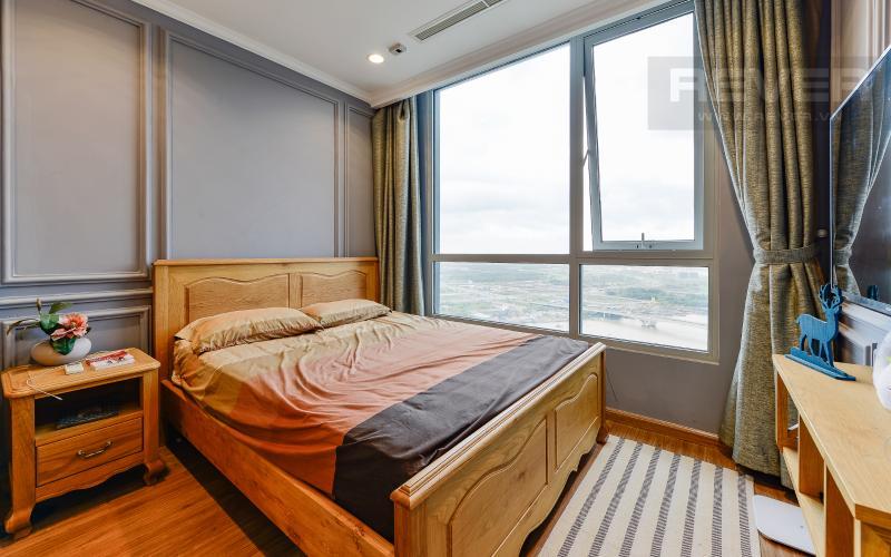 phòng ngủ Căn hộ Vinhomes Central Park tầng cao Central 1 đầy đủ tiện nghi