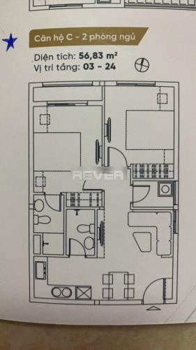 Căn hộ Dream Home Riverside tầng 5 diện tích 56m2, nội thất cơ bản.