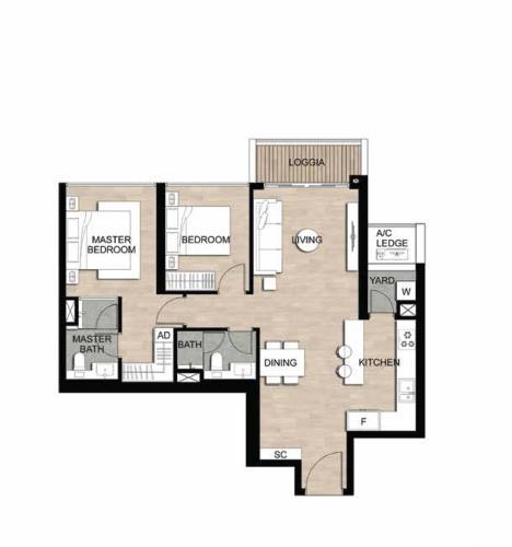 Căn hộ The Metropole Thủ Thiêm tầng 10, nội thất cơ bản.