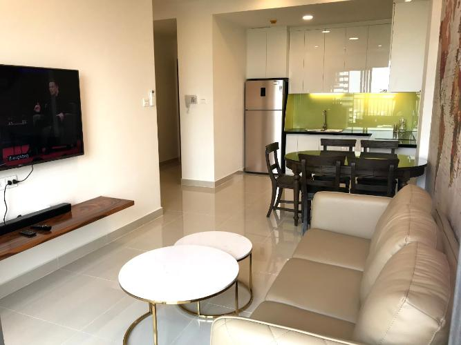 Phòng khách The Sun Avenue Căn hộ The Sun Avenue tầng trung, bàn giao nội thất tiện nghi.
