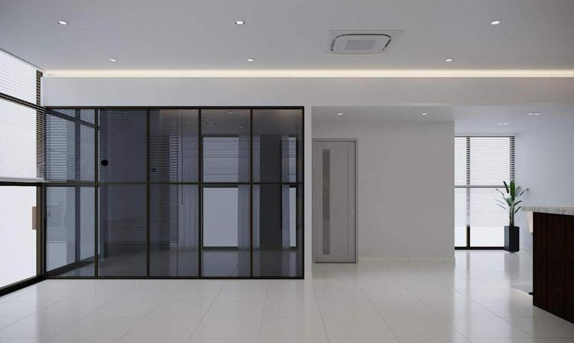 Căn hộ The Sun Avenue tầng thấp bàn giao nội thất cơ bản.