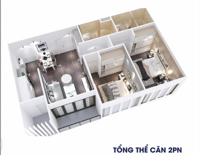 Căn hộ City Gate 3 tầng cao, nội thất cơ bản.