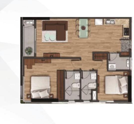 Căn hộ Akari City tầng 9 thiết kế kỹ lưỡng, bàn giao nội thất cơ bản.