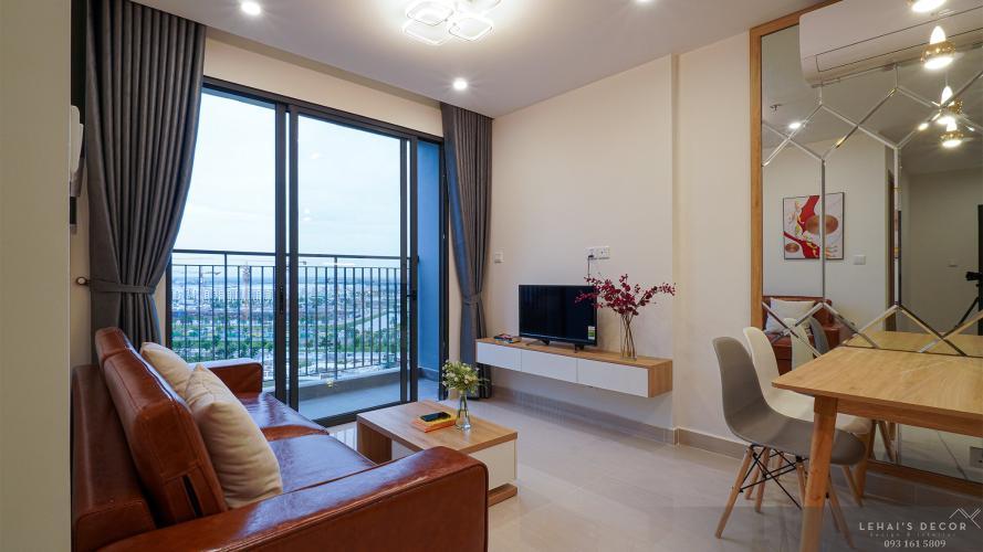 Phòng khách căn hộ Vinhomes Grand Park, Quận 9 Căn hộ Vinhomes Grand Park ban công hướng Đông Nam thoáng mát.