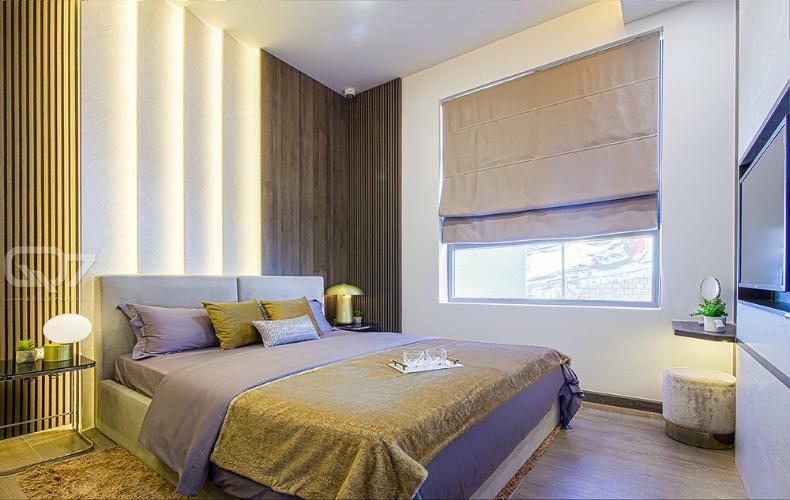Phòng ngủ mẫu căn hộ Q7 Boulevard Bán căn hộ Q7 Boulevard, tầng trung, 2 phòng ngủ, diện tích 56.98m2, ban công hướng Nam
