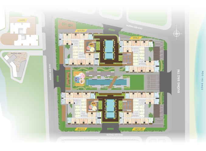 Mặt bằng khu căn hộ Q7 SAIGON RIVERSIDE Căn hộ Q7 Saigon Riverside tầng cao, hoàn thiện cơ bản