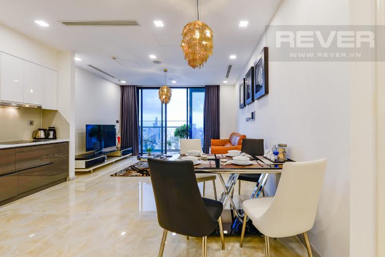 Bàn ăn căn hộ Vinhomes Golden River Cho thuê căn hộ Vinhomes Golden River 2PN, tầng cao, diện tích 72m2, đầy đủ nội thất, view sông Sài Gòn