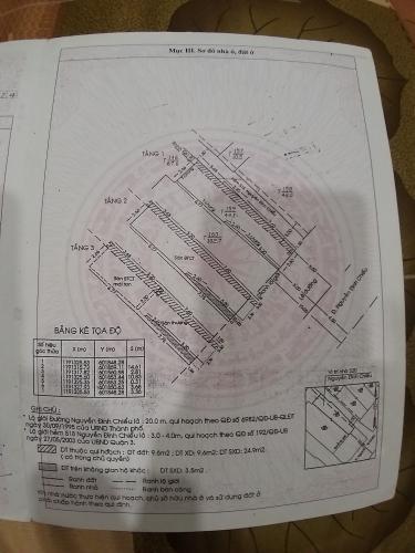 Bản vẻ nhà phố Quận 3 Nhà phố mặt tiền Đường Nguyễn Đình Chiểu Quận 3, sổ hồng riêng.