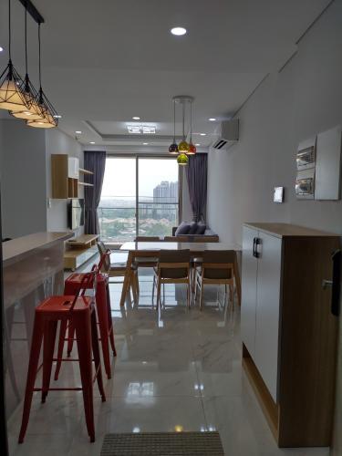 Phòng ăn và bếp căn hộ PHÚ MỸ HƯNG MIDTOWN Bán hoặc cho thuê căn hộ Phú Mỹ Hưng Midtown 2PN, diện tích 88m2, đầy đủ nội thất, view khu biệt thự