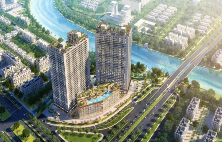 Bán căn hộ Lavida Plus tầng trung, 1 phòng ngủ, diện tích 50.96m2, thiết kế hiện đại, chưa bàn giao.