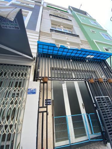 Nhà phố kết cấu 1 trệt 3 lầu, hẻm cụt rộng 4.5m đường Nguyễn Thông.
