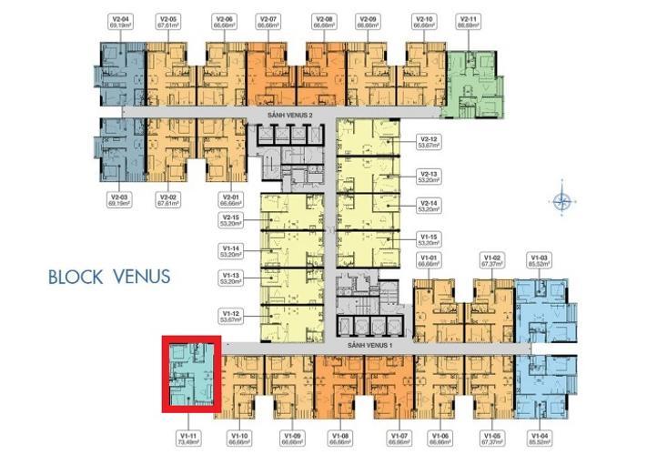 layout căn hộ Q7 Saigon Riverside Complex Căn hộ Q7 Saigon Riverside tầng trung, hoàn thiện cơ bản
