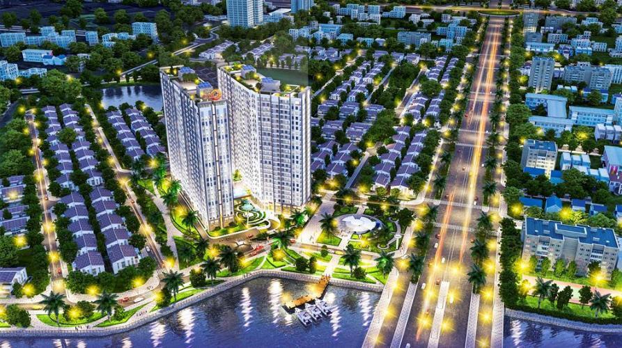 Saigon Intela, Bình Chánh Căn hộ tầng cao Saigon Intale đầy đủ nội thất tiện nghi, hướng Nam.