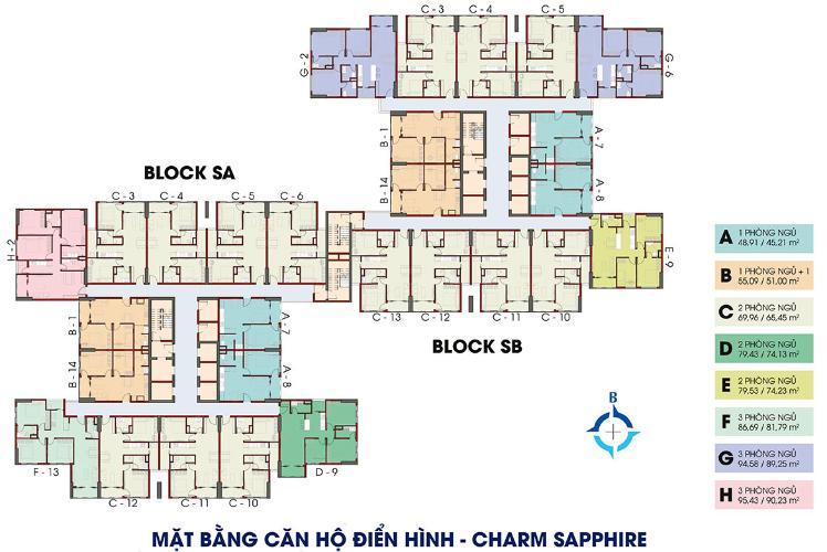 Mặt bằng chung Charm City, Dĩ An Căn hộ Charm City tầng trung, ban công hướng Nam.