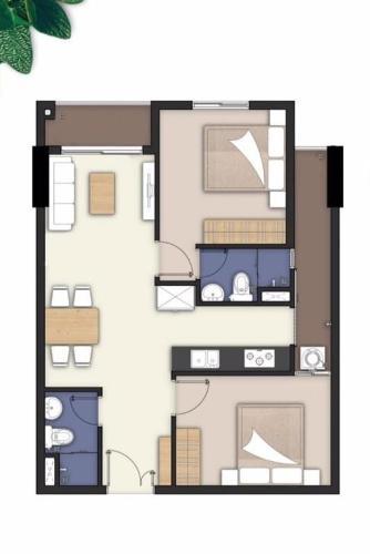 Căn hộ góc 2 view Lavita Charm tầng 10 cửa hướng Tây Bắc, nội thất cơ bản.