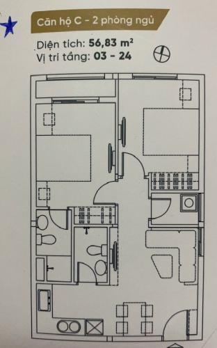 Căn hộ Dream Home Riverside nội thất cơ bản, view thoáng mát.