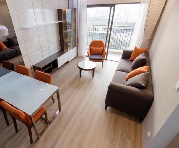 phòng khách căn hộ The Sun Căn hộ The Sun Avenue tầng cao, đầy đủ nội thất, ban công thoáng mát.