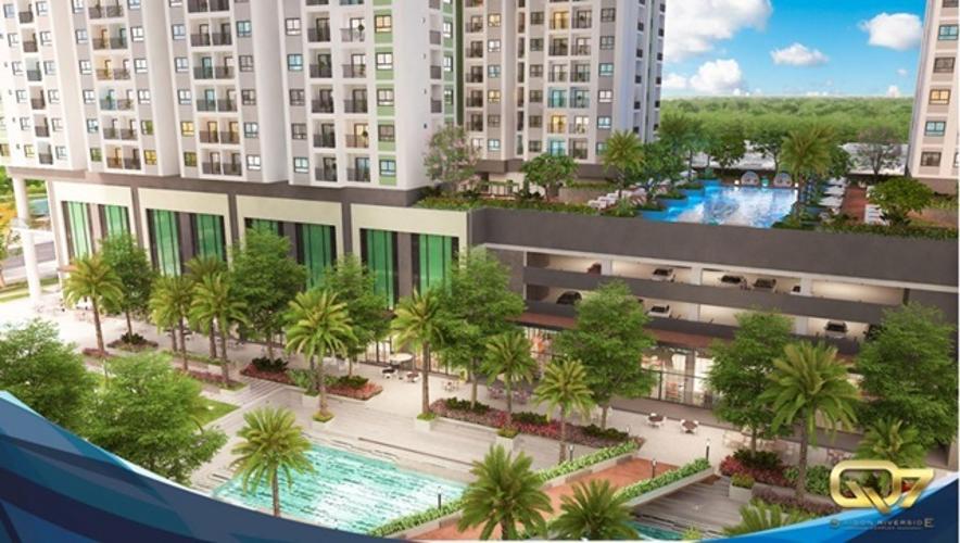 Phối cảnh dự án căn hộ Q7 Boulevard Bán căn hộ Q7 Boulevard tầng thấp, 2 phòng ngủ, diện tích 57m2, ban công hướng Tây