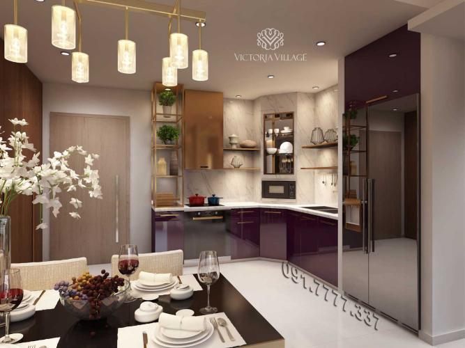 Căn hộ Victoria Village tầng 15 thiết kế sang trọng, đầy đủ tiện ích.