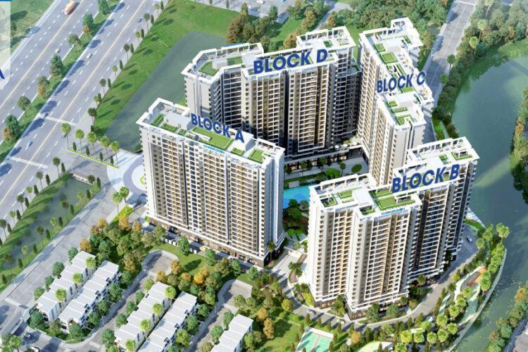 Toàn cảnh Safira Khang Điền, Quận 9 Căn hộ Safira Khang Điền view hướng Đông, nội thất cơ bản.