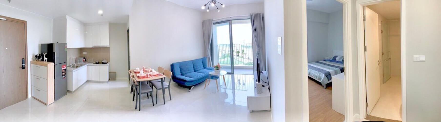 phòng khách căn hộ Masteri An Phú Căn hộ tầng thấp Masteri An Phú nội thất tiện nghi.