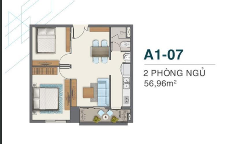 Mặt bằng căn hộ Q7 Boulevard Căn hộ Q7 Boulevard tầng 10 nội thất cơ bản, view thoáng mát.