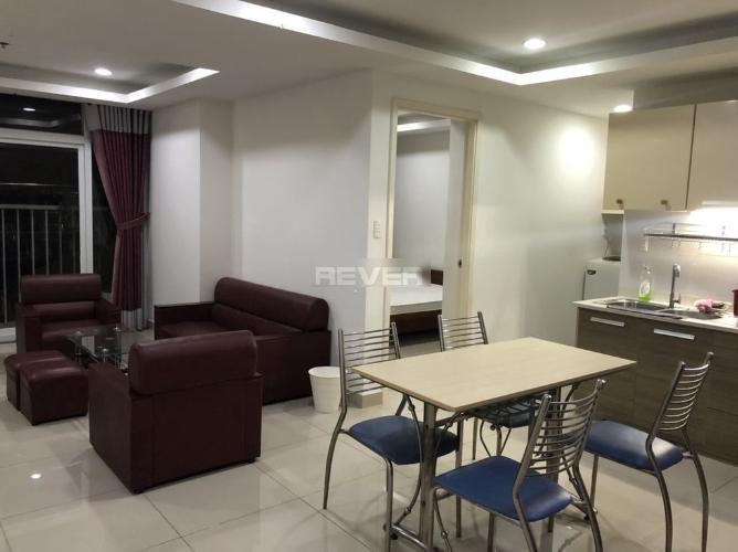 Phòng ăn và phòng khách Skyway Residence, Bình Chánh Căn hộ Skyway Residence tầng trung, cửa chính hướng Đông Nam.