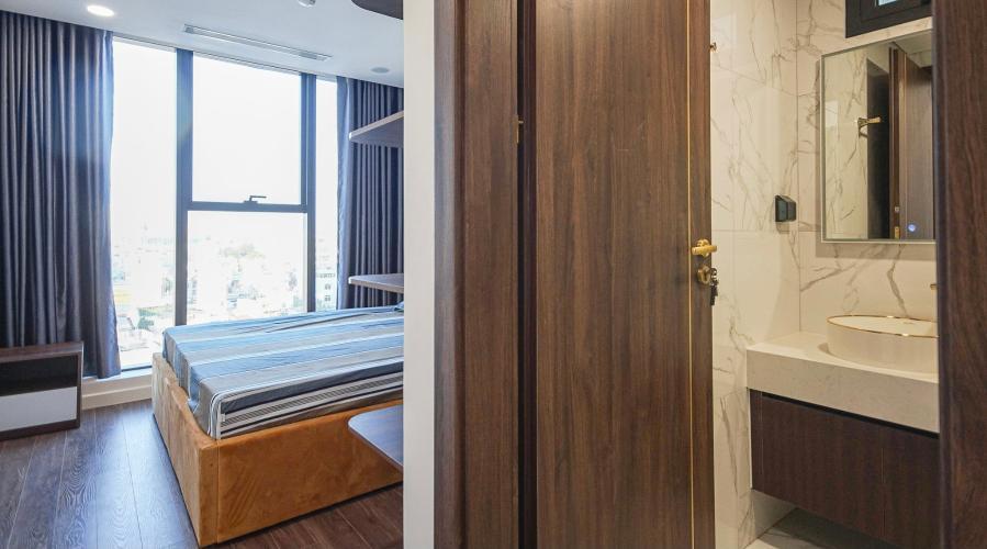 phòng ngủ căn hộ Sunshine City Saigon Căn hộ tầng 06 Sunshine City Sài Gòn ban công hướng Đông Bắc