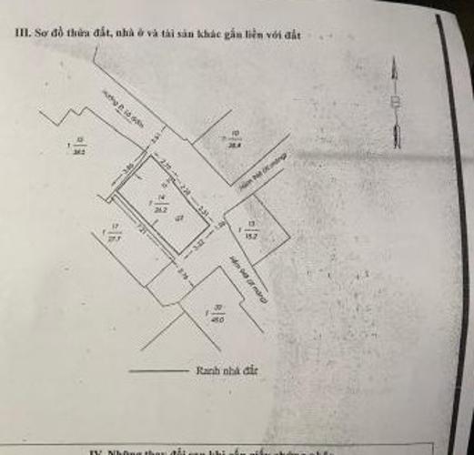 Thông tin nhà phố Nhà phố Quận 6 diện tích sử dụng 52.4m2, sổ hồng riêng.