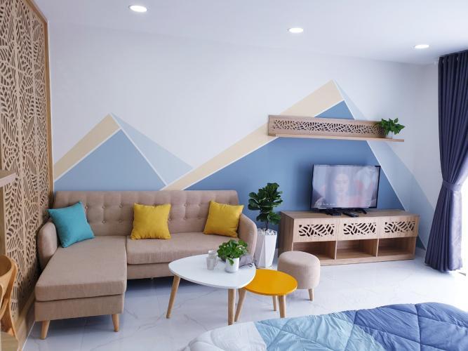Căn Studio Masteri Millennium tầng 5, đầy đủ nội thất hiện đại.