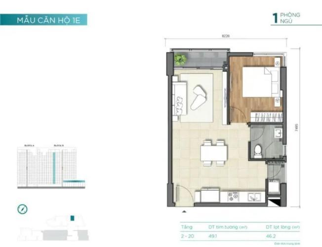 Căn hộ tầng thấp D'Lusso nội thất cơ bản, view thoáng mát.