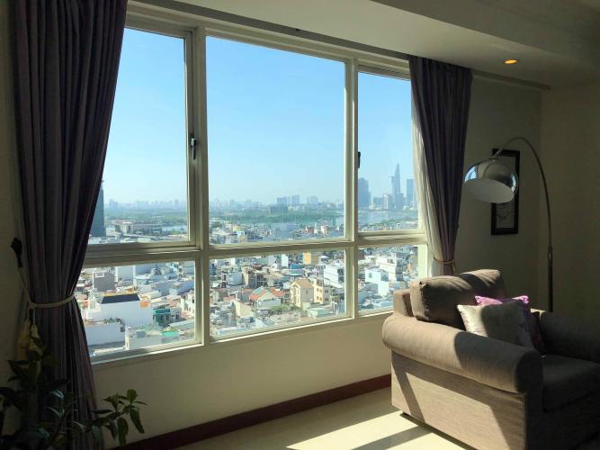 Phòng khách The Manor Quận Bình Thạnh Căn hộ The Manor tầng trung, view hướng Đông Nam.