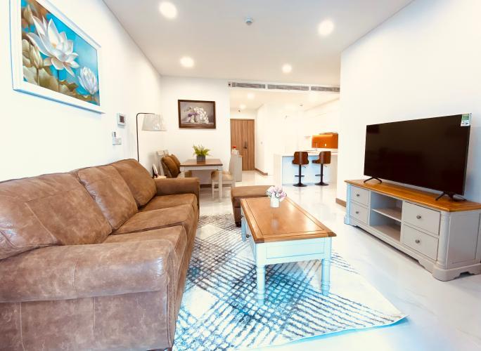 Phòng khách căn hộ Sunwah Pearl, Bình Thạnh Căn hộ tầng 16 Sunwah Pearl cửa hướng Tây Bắc, view thoáng mát.