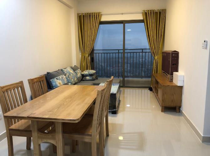 phòng khách căn hộ The Sun Căn hộ tầng cao The Sun Avenue view thành phố thoáng mát