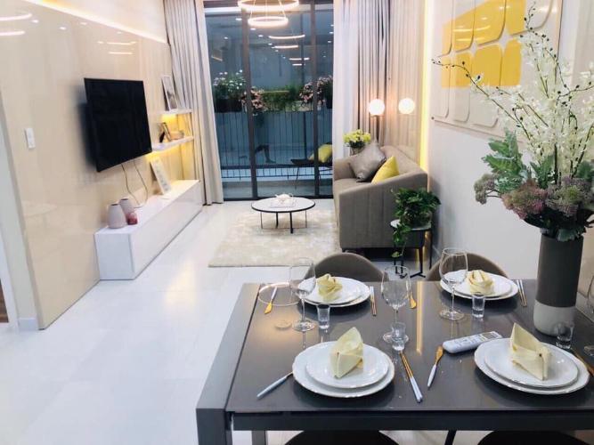 Phòng khách căn hộ RICCA Bán căn hộ 1 phòng ngủ Ricca Quận 9, tầng 12, diện tích 56m2, chưa bàn giao