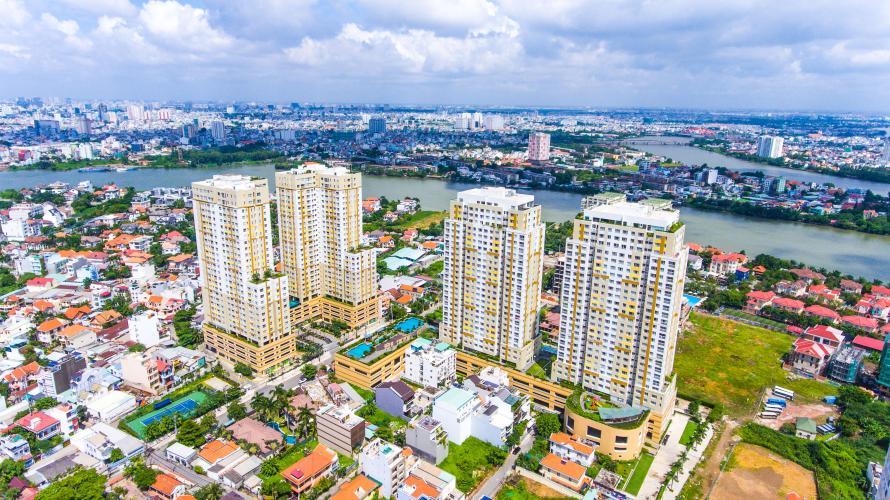 Tropic Garden, quận 2 Căn hộ Tropic Garden tầng cao đón view thành phố và sông.